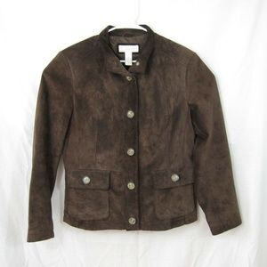 Marshall Fields Leather Jacket Suede Look